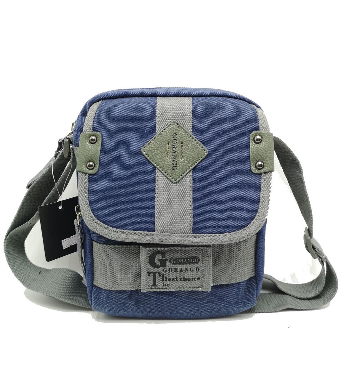 Мужская сумка через плече Gorangd синий (3380/1)