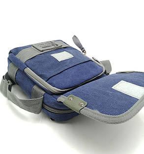 Мужская сумка через плече Gorangd синий (3380/1), фото 2