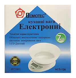 Кухонні ваги до 5 кг з чашею ACS-126 + батарейки точні кухонні ваги для зважування