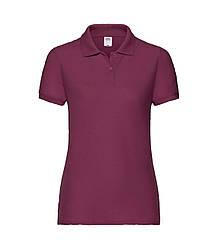 Женская футболка поло бордовая 212-41