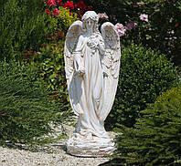Садовая фигура Ангел молящийся 74х32х28 см Гранд Презент ССП12008 Крем