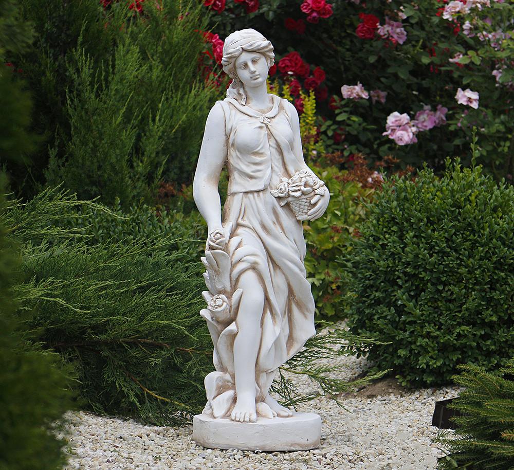 Садовая фигура Богиня Весны 83х23х27 см Гранд Презент ССП12037 Крем