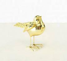 Декоративная птичка золото h10см Гранд Презент 1011082