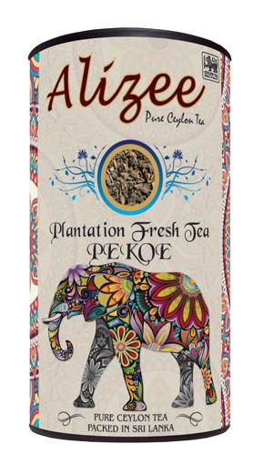 Чай черный листовой Alizee Plantations Fresh Tea РЕКОЕ 150 г в подарочной банке