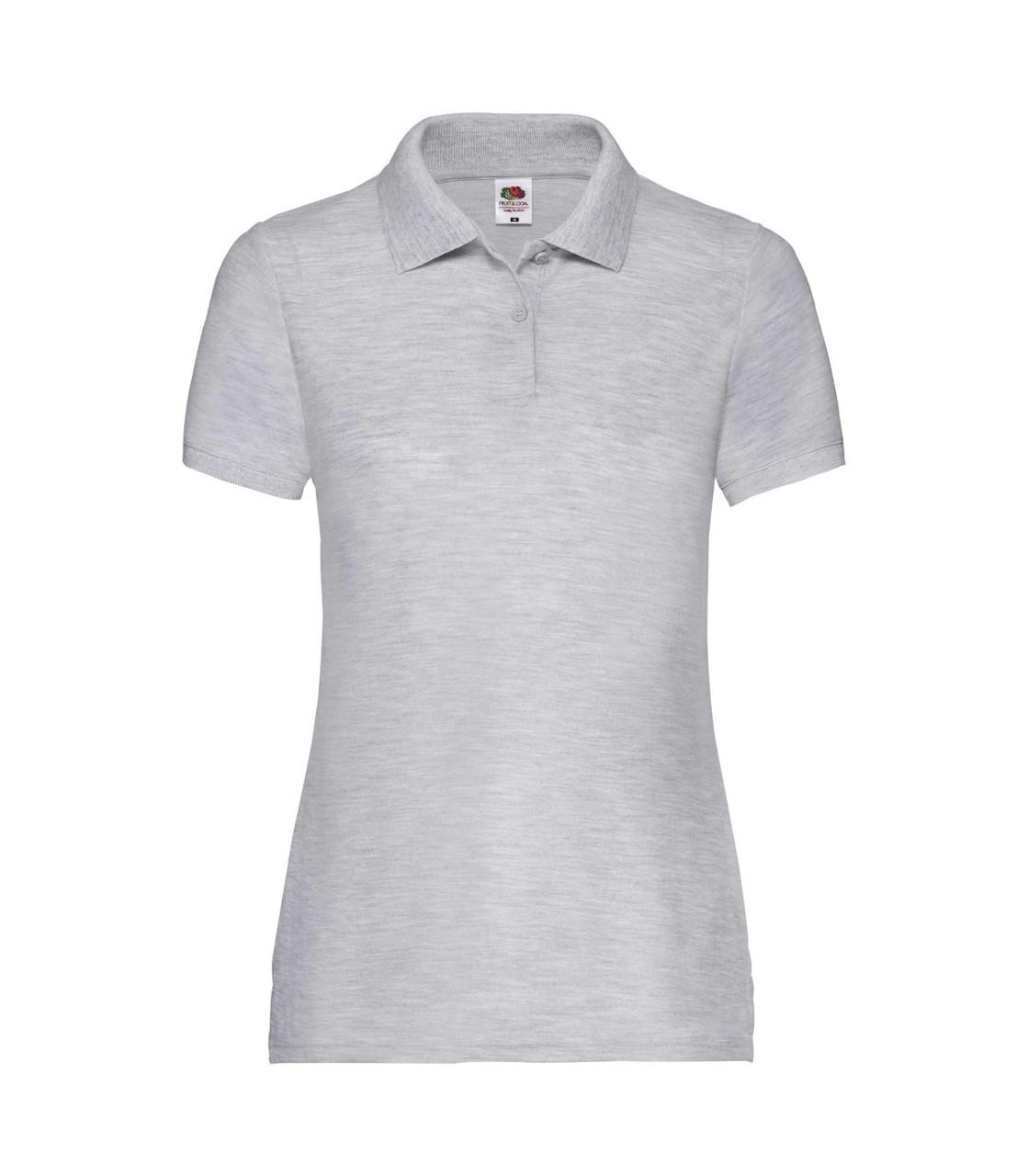 Женская футболка поло светло-серая 212-94