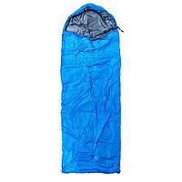 Спальник 200гр/м2, синий, одеяло, (180+30)*75см