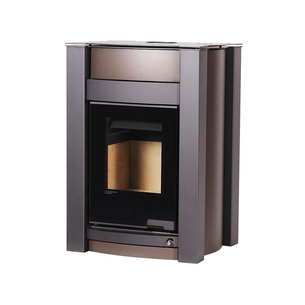 Отопительная печь-камин длительного горения AQUAFLAM VARIO KALMAR (водяной контур, коричневый бархат)