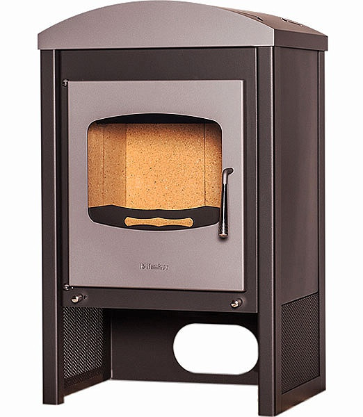 Отопительная печь-камин длительного горения FLAMINGO STAVANGER 240 м.куб, толщина стали 5 мм