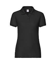 Женская футболка поло черная 212-36