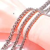 Красивый хромовый браслет на руку с эльфийским плетением 16112, фото 3