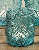 Подсвечник Sealife бирюзовое стекло h13см Гранд Презент 1006063