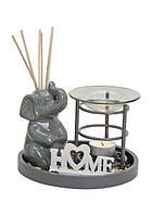 Аромалампа подарочный набор Слон аромадиффузор керамика 10024371