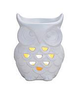 Аромалампа Сова белая керамика 11X9X15см 10019340