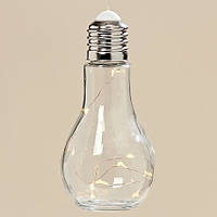 Светодиодная лампа ночник Колба прозрачное стекло h19d9см Гранд Презент 3436600