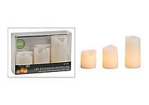 Набор свечей LED ночник воск 5/7/10см Гранд Презент 10011360