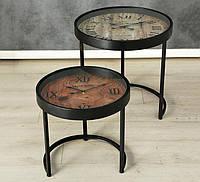 Набор столов 2х декор часы h43-53см 1003845
