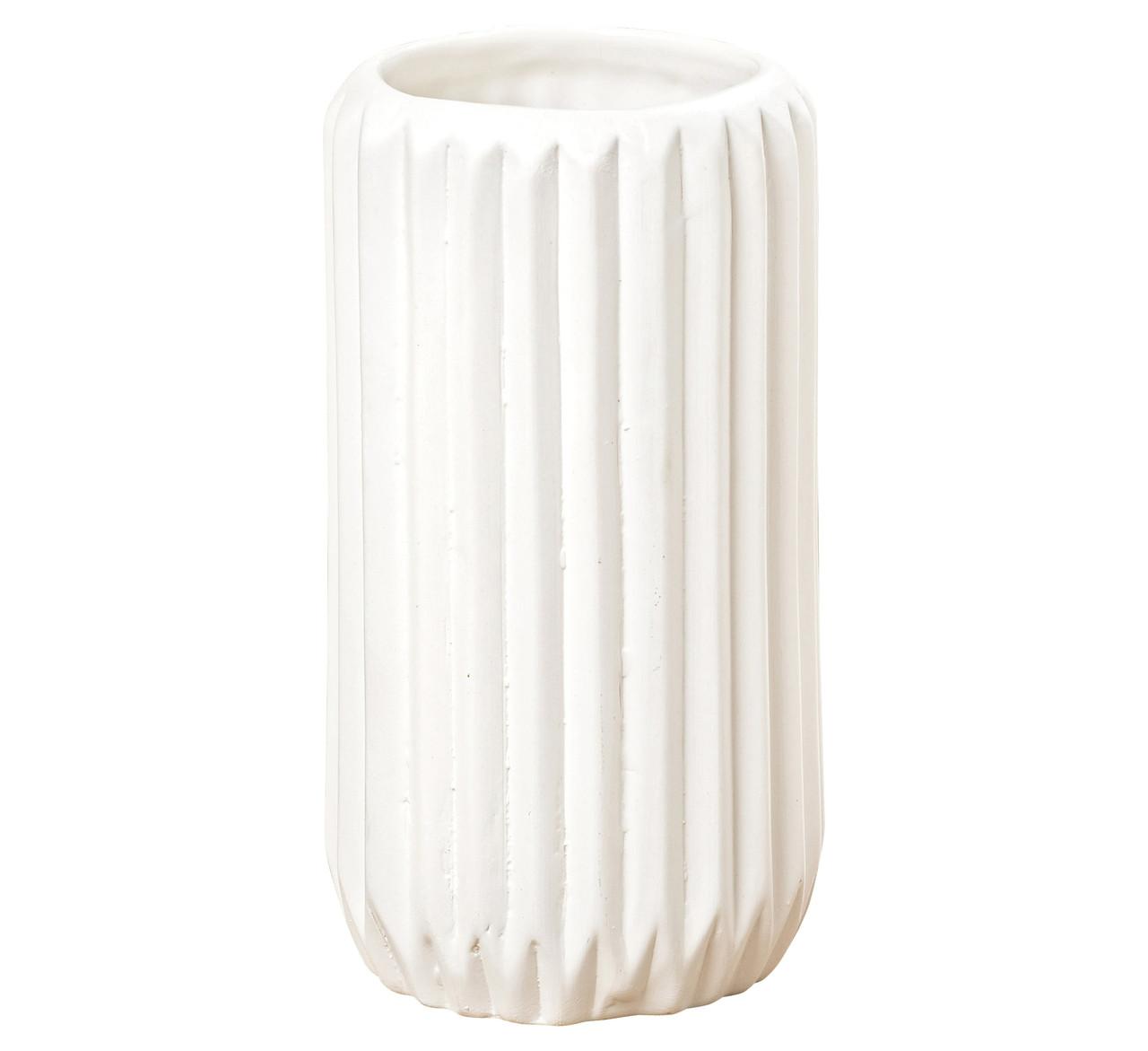 Ваза Эско широкое горлышко белая керамика h17см Гранд Презент 5549600-1 широк