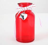 Декоративная красная ваза Роза h12 cm 1011448-1 красн