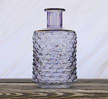Ваза Леони сиреневое  стекло h21см d12см Гранд Презент 1004893-2 сирень