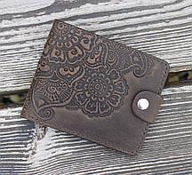 Портмоне Цветок коричневый 9*11см Гранд Презент 02-11 К