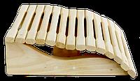 Подголовник Greus анатомический 350/350 мм ольха для бани и сауны