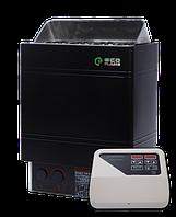 Настенная электрокаменка EcoFlame AMC 90-D 9 кВт с пультом объем парилки 8-13 м.куб вес камней 20 кг