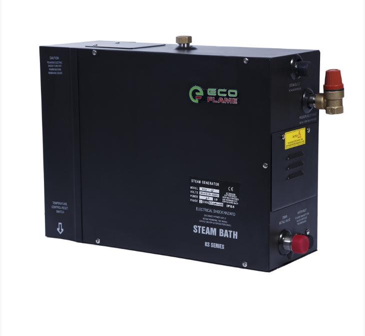 Парогенератор EcoFlame KSA60 6 кВт (для хамама 5-6 м.куб) пульт, клапан, форсунка в комплекте