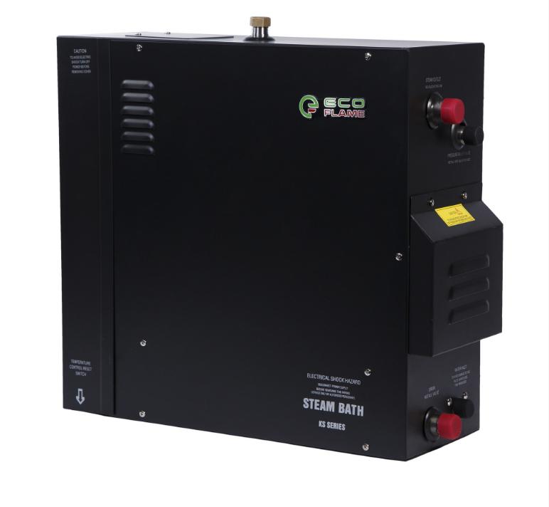 Парогенератор EcoFlame KSA120 12 кВт (для хамама 11-14 м.куб) пульт, клапан, форсунка в комплекте