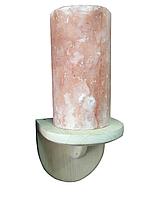 """Світильник сольовий """"Цилиндр"""" прямий з гімалайської солі для лазні та сауни"""