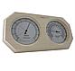 Термогигрометр Greus 26х14 липа для бани и сауны, фото 2