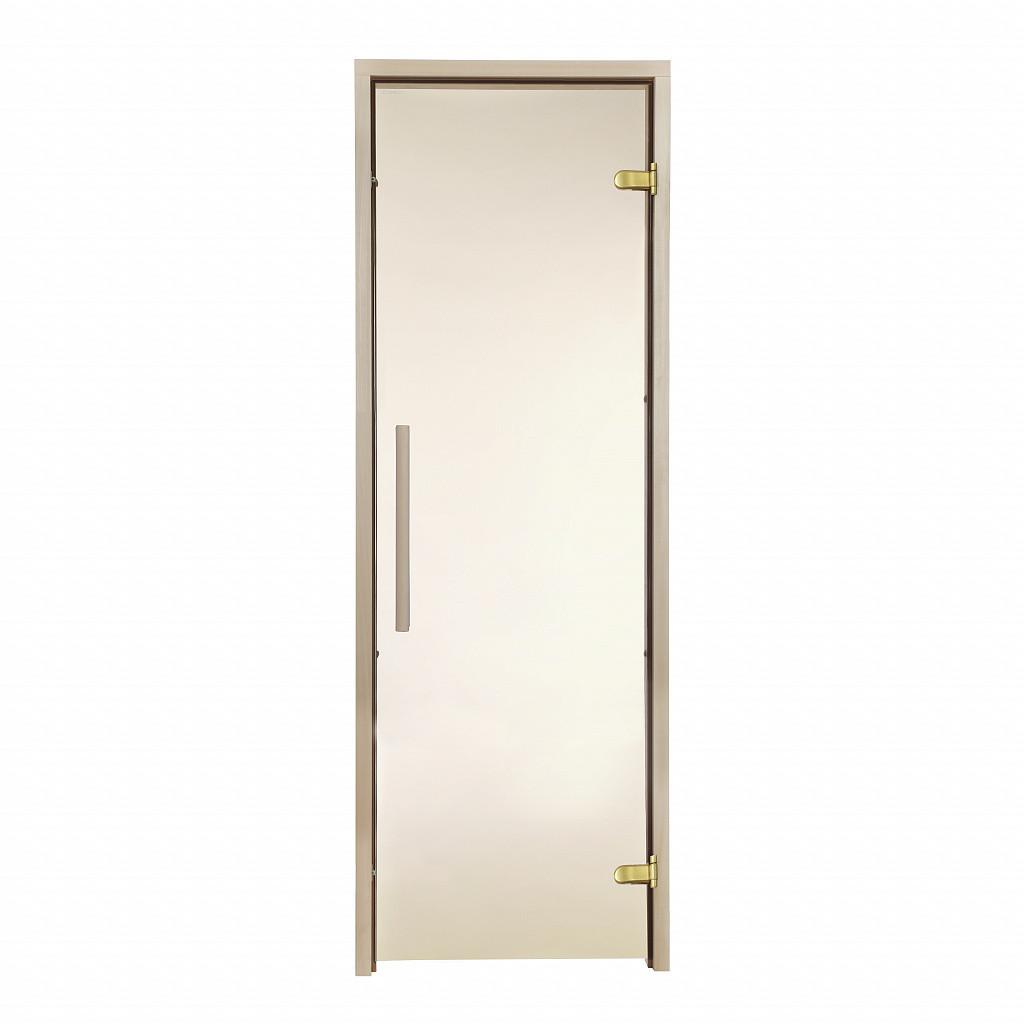 Стеклянная дверь для бани и сауны GREUS Premium 70/200 бронза