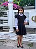 Сарафан на девочку школьный с перфорацией  мм660