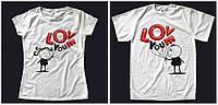 """Парные футболки """"Влюблённые человечки"""""""