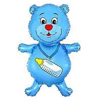 FM Медвежонок с бутылочкой голубой 92см X 59см
