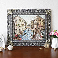 Картина рельефная Венеция мостик Гранд Презент КР 905 цветная