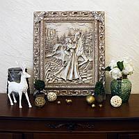 Барельеф Девушка с лошадью светящийся KP 902 камень светит