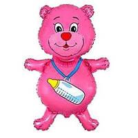 FM Медвежонок с бутылочкой малиновый 92см X 59см