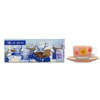 Набор Helios Прага чайный чашка 220 мл и блюдце 6 шт (6240)