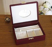 Шкатулка для хранений ювелирных украшений 18*13*5,8 Гранд Презент 603432 бордо