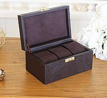 Шкатулка для хранения часов 16*10*7,5 Гранд Презент 603409 коричневая