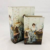 Шкатулка книга - Леди в голубом Гранд Презент 22-KSH-SC372-PU