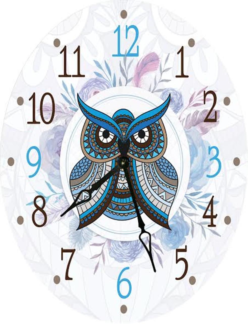 Часы овальные настенные СОВУШКА 46*60 d466021 d466021 d466021