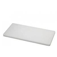 Разделочная доска без ограничителя Helios 50х30х2 см Белая (7910)