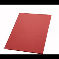 Разделочная доска для мяса без ограничителя Helios 50x30x2 см Красная (7911)