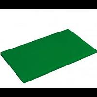 Разделочная доска для зелени, овощей и фруктов без ограничителя Helios 50x30x2 см Зеленая (7914)