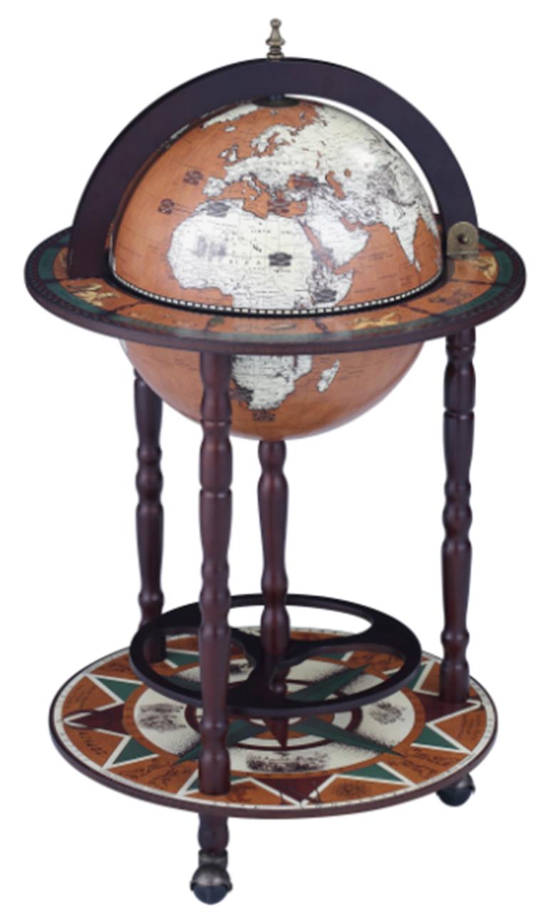 Глобус бар напольный на 3х ножках 44.3*44.3*88 см Гранд Презент 33001N-M