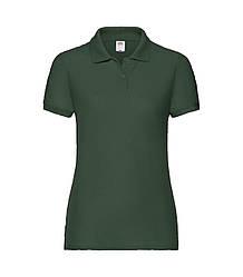 Женская футболка поло темно-зеленая 212-38