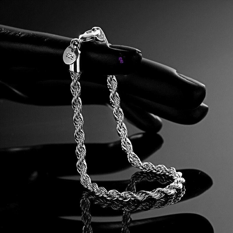 Красивый браслет на руку под серебро 16115