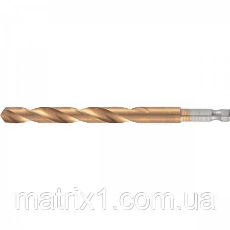 Сверло по металлу, 10 мм, HSS, нитридтитановое покрытие, 6-гранный хвостовик/ MTX