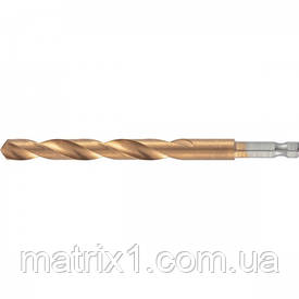 Свердло по металу, 10 мм, HSS, нитридтитановое покриття, 6-гранний хвостовик/ MTX